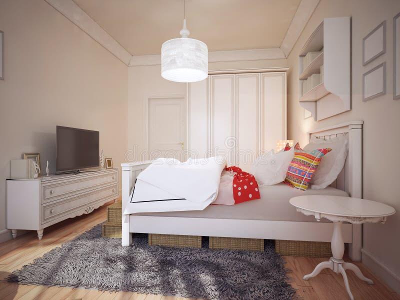 Дизайн bedchamber стиля Арт Деко стоковое изображение rf