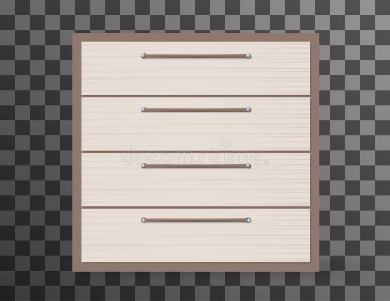Дизайн Commode реалистический на прозрачной предпосылке бесплатная иллюстрация