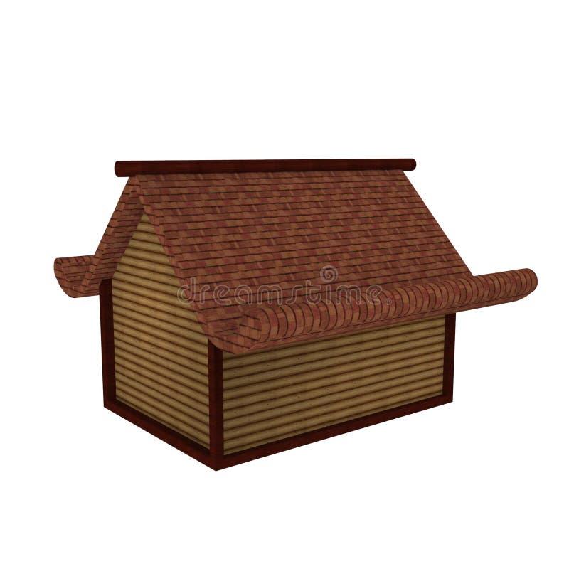 дизайн 3D дома мини Касы средневекового иллюстрация штока