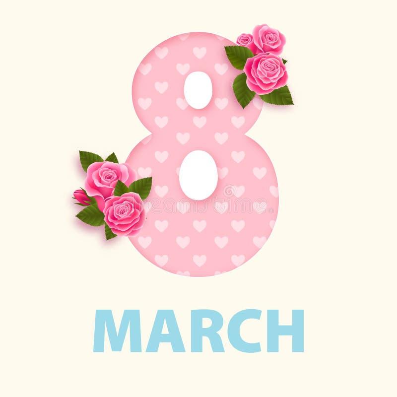 Дизайн eps 10 8-ое марта дня женщин бесплатная иллюстрация