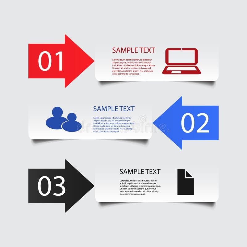 Дизайн Infographic - знамена бесплатная иллюстрация