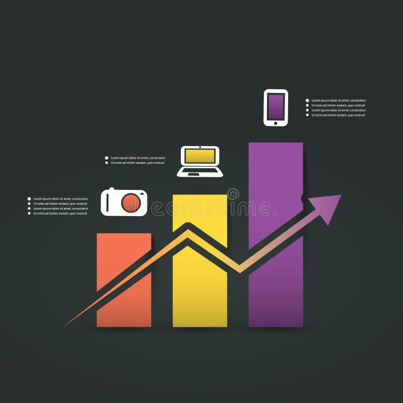 Дизайн Infographic - диаграмма иллюстрация штока