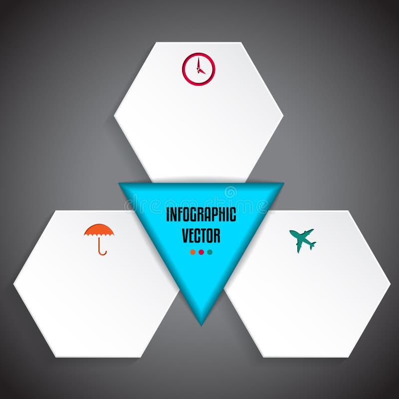 Дизайн Infographic с различными символами и текстом иллюстрация штока
