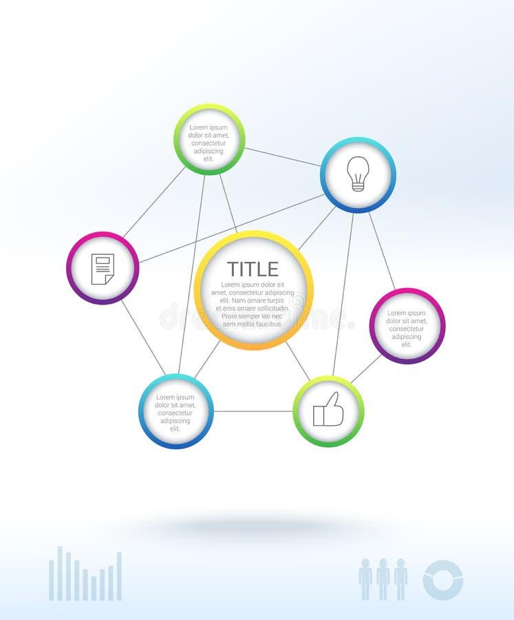 Дизайн Infographic чистый иллюстрация штока