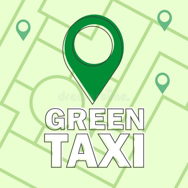 Дизайн infographics вектора современный плоский творческий - зеленое такси - концепция eco бесплатная иллюстрация