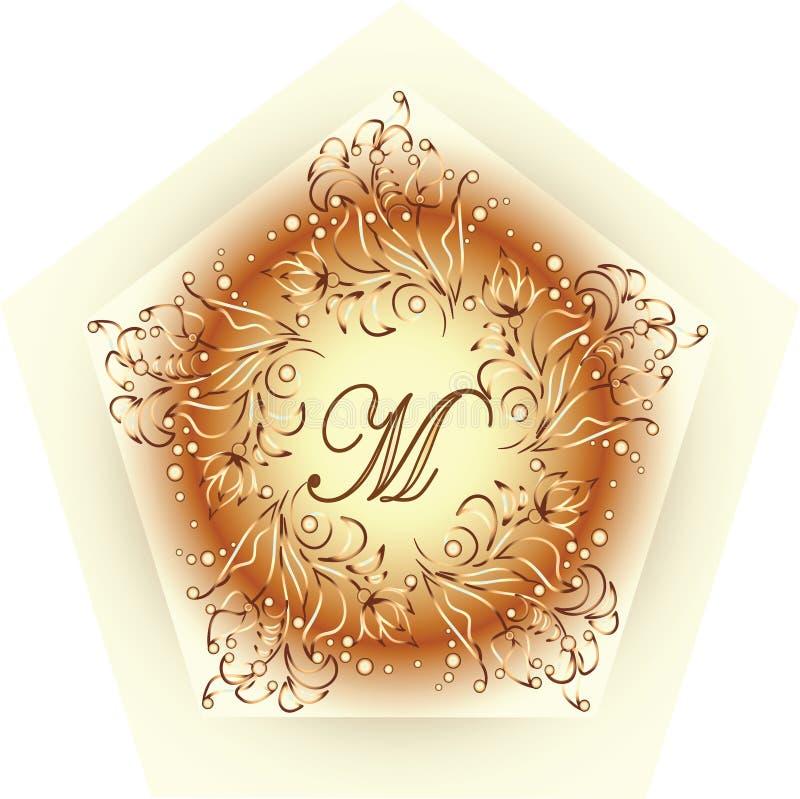 Дизайн m вензеля Простой и грациозно шаблон дизайна вензеля бесплатная иллюстрация