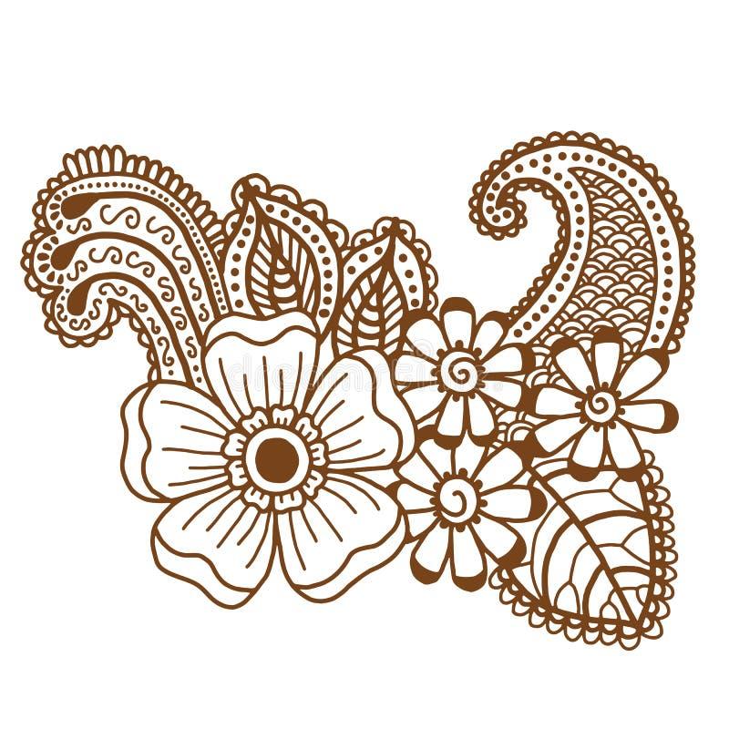 Дизайн Mehndi Картины иллюстрация вектора