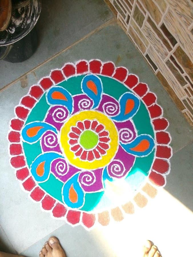 Дизайн Rangoli стоковая фотография