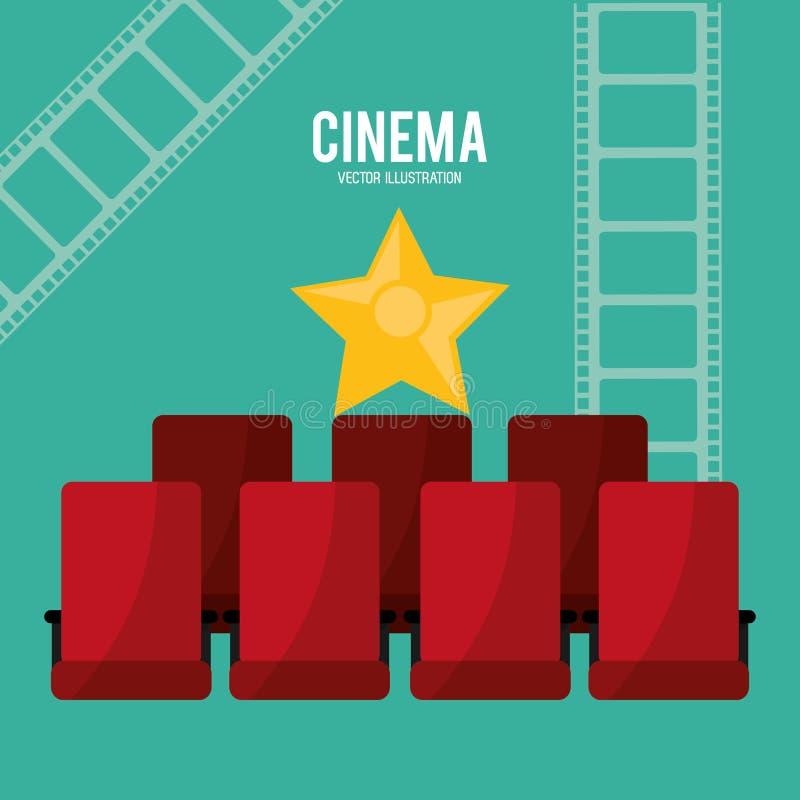 Дизайн teather стульев кино бесплатная иллюстрация