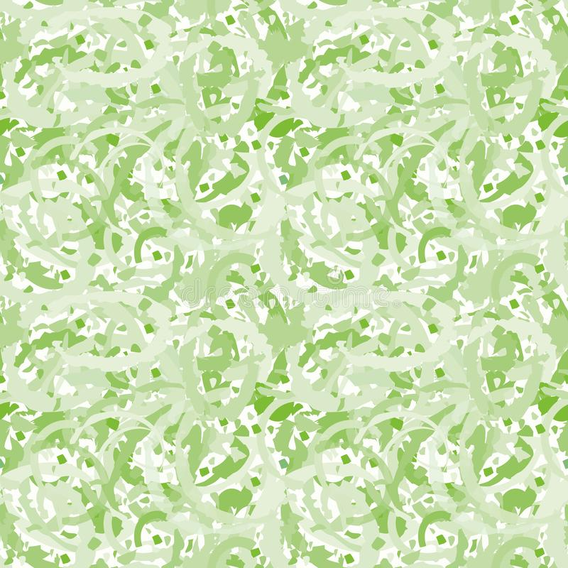 Дизайн terrazzo зеленого цвета конспекта прозрачный создавая painterly мраморизуя влияние Безшовная картина вектора на белизне иллюстрация вектора