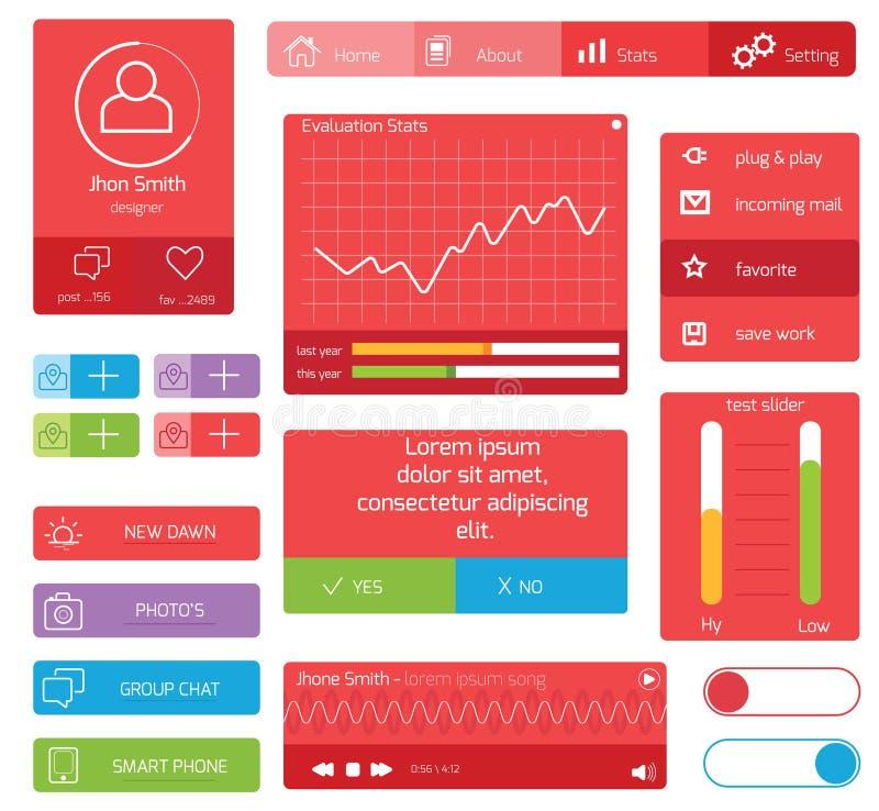 Дизайн UI бесплатная иллюстрация