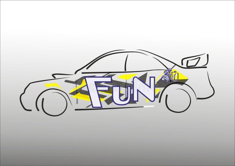 Дизайн wrapp автомобиля стоковые изображения