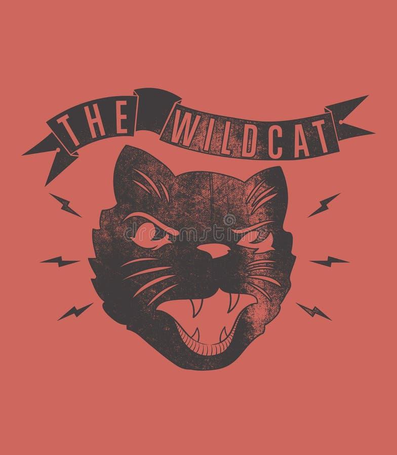 Дикая кошка иллюстрация вектора