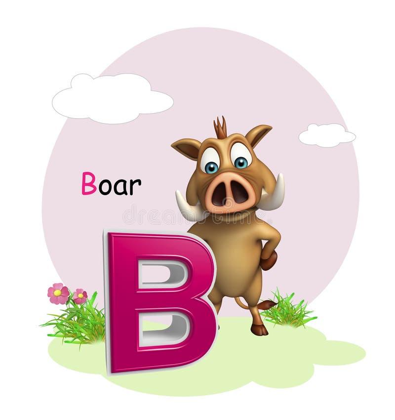 Дикое животное хряка с alphabate бесплатная иллюстрация