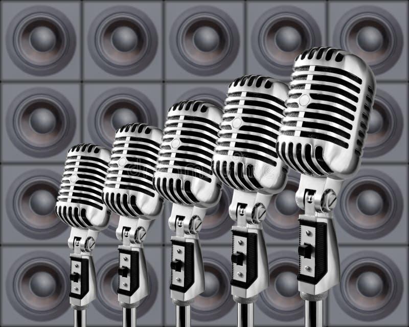 дикторы микрофонов бесплатная иллюстрация