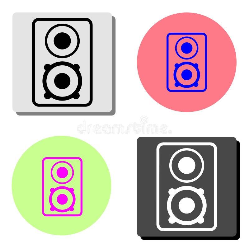 Дикторы столбца музыки аудио Плоский значок вектора бесплатная иллюстрация
