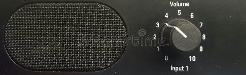 Диктор и регулятор звука стоковое фото rf
