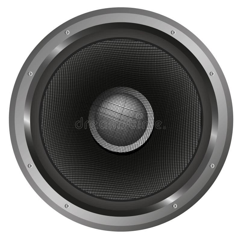 Download Диктор музыки иллюстрация вектора. иллюстрации насчитывающей черный - 33727001