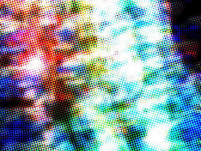 Динамическая абстрактная красочная расплывчатая предпосылка стоковое изображение
