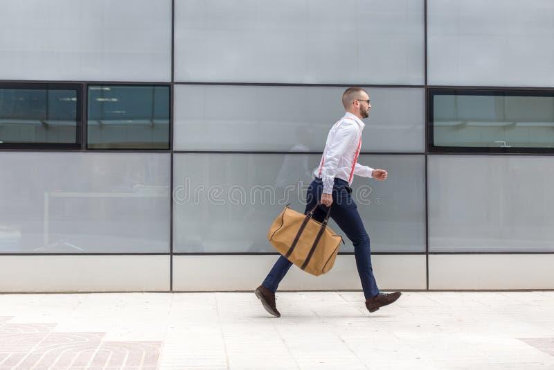 Динамическая и занятая концепция бизнесмена стоковая фотография rf