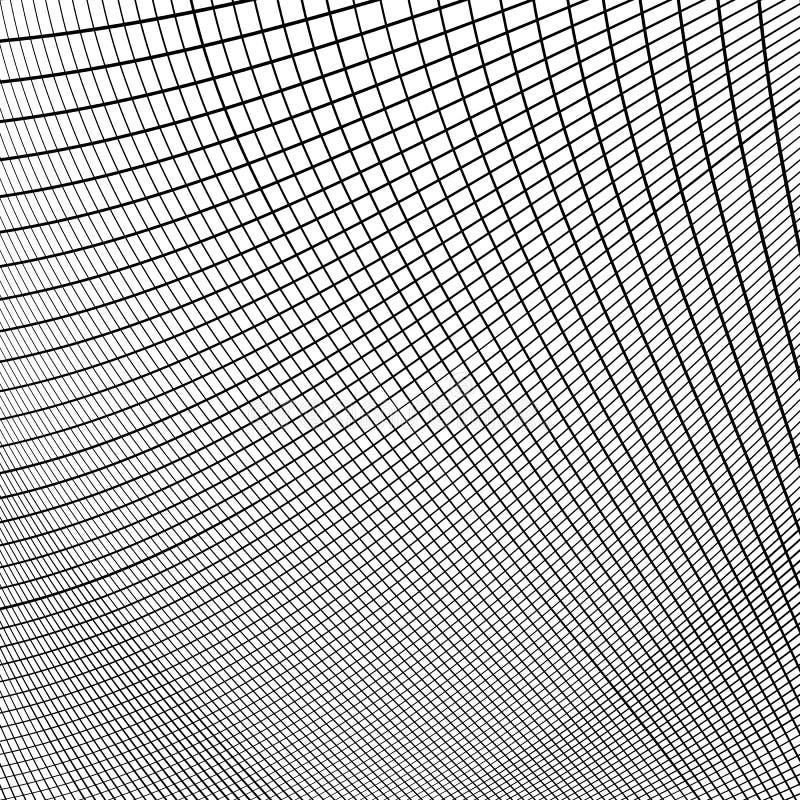 Download Динамические линии решетка Monochrome геометрическая картина, абстрактное Textu Иллюстрация вектора - иллюстрации насчитывающей клетки, динамически: 81804223