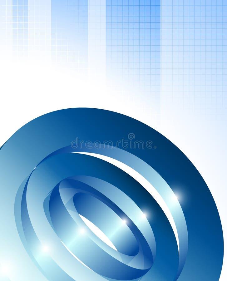 Динамический визуальный дизайн 3d на сини проверил предпосылку картины бесплатная иллюстрация