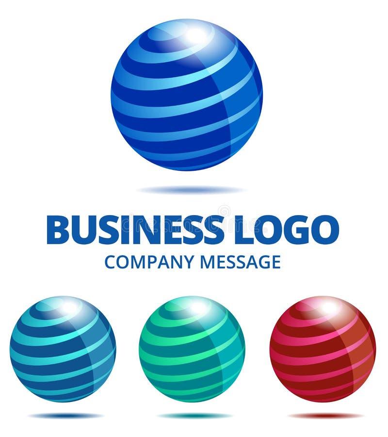 Динамический логотип глобуса дела иллюстрация вектора
