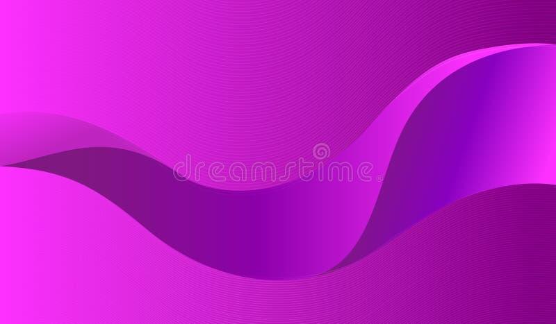 динамически пурпуровая волна стоковая фотография