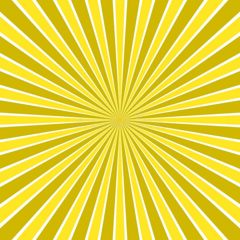Динамическое абстрактное солнце излучает предпосылку - шуточный дизайн вектора от радиальной картины нашивки бесплатная иллюстрация