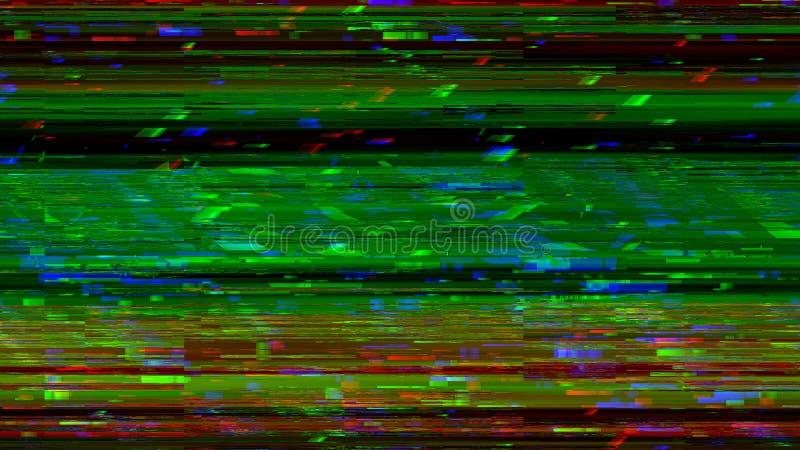 Динамическое видео glich, плохой сигнал ТВ дисплея цвета, 3d представляет предпосылку произведенную компьютером бесплатная иллюстрация