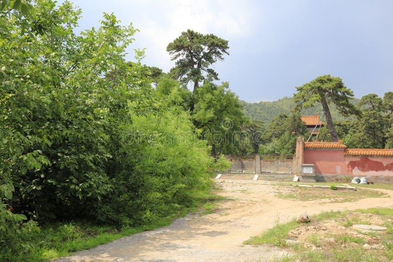 Династия Ming замыкая мавзолей, саман rgb стоковая фотография rf