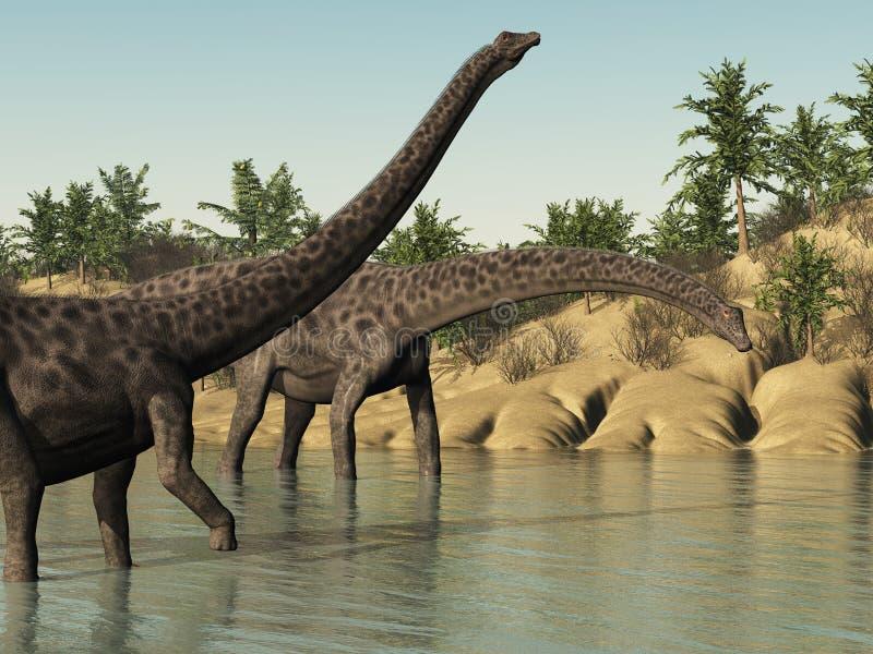 Динозавры диплодока иллюстрация вектора
