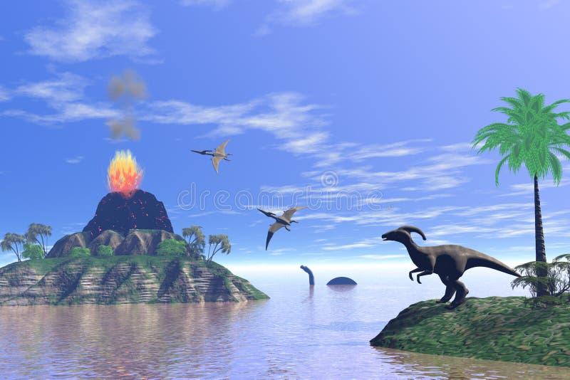 динозавры иллюстрация штока