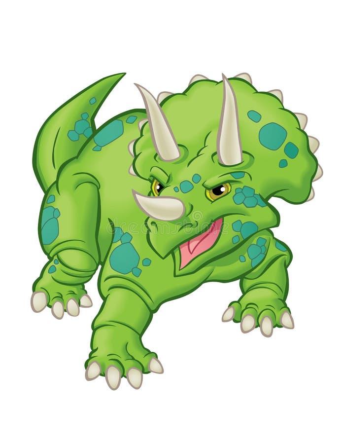 Динозавр трицератопс стоковое изображение rf