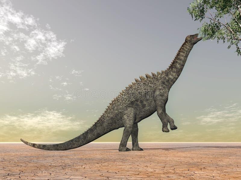 динозавр ampelosaurus иллюстрация вектора