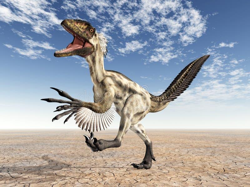 динозавр deinonychus иллюстрация вектора