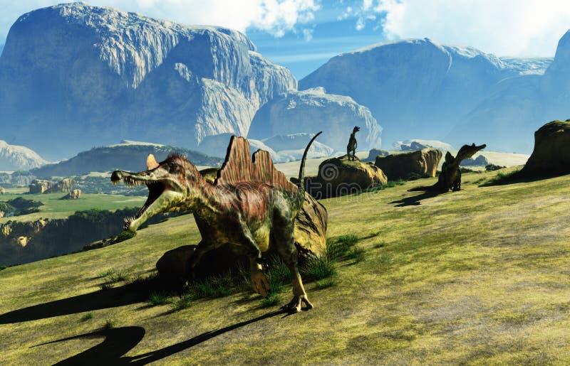 Динозавр Ichthyovenator иллюстрация вектора