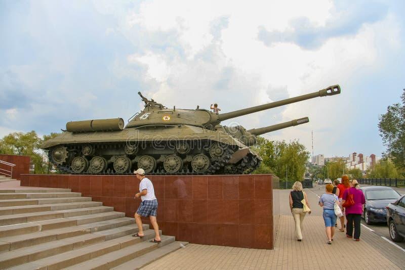 Диорама посвящён битве за танк в Прохоровском стоковое изображение rf