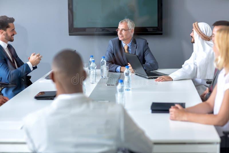 Директор встречи владением компании стоковая фотография rf