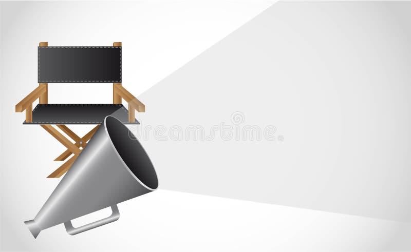 директор стула иллюстрация вектора