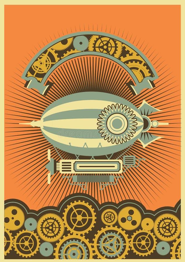 Дирижабль Steampunk бесплатная иллюстрация