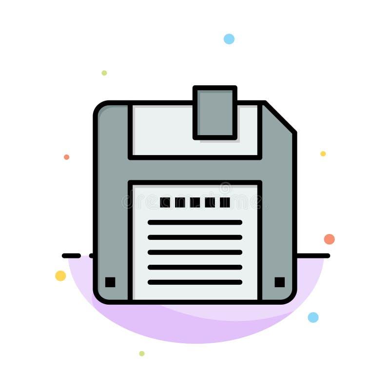 Дискета, дискет, шаблон значка цвета конспекта спасения плоский иллюстрация вектора