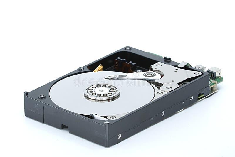 Дисковод жесткого диска компьютера с открытым полисом стоковая фотография rf