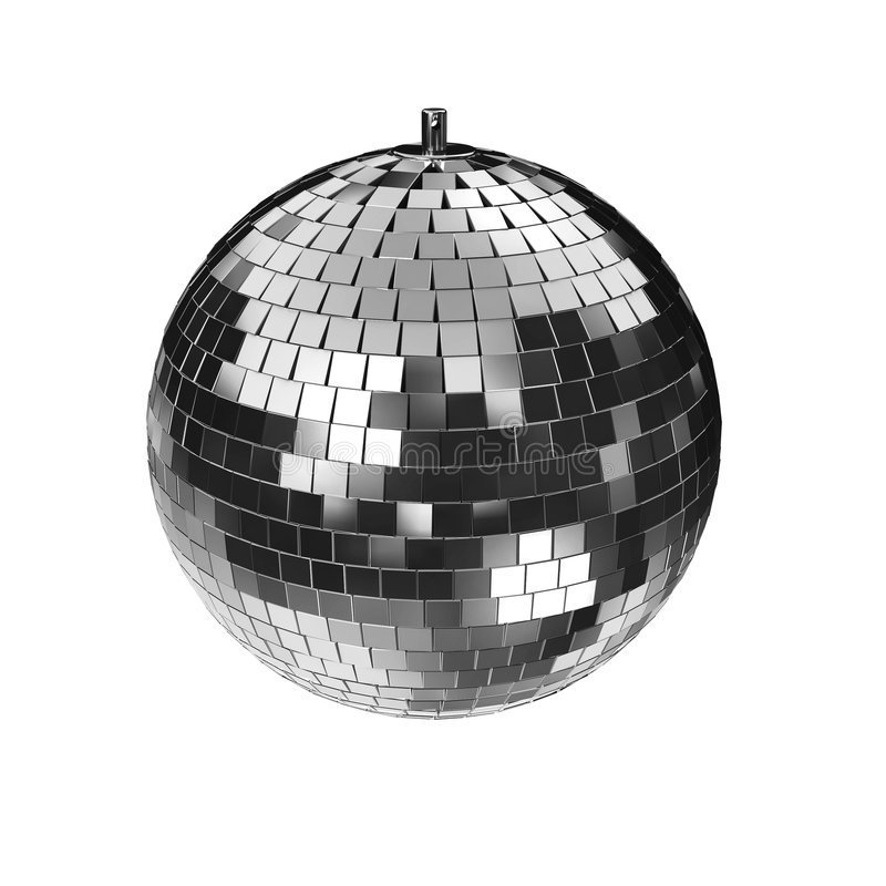 диско изолировало mirrorball иллюстрация вектора