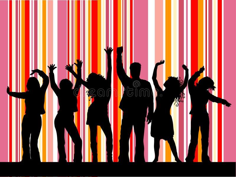 диско танцы иллюстрация штока