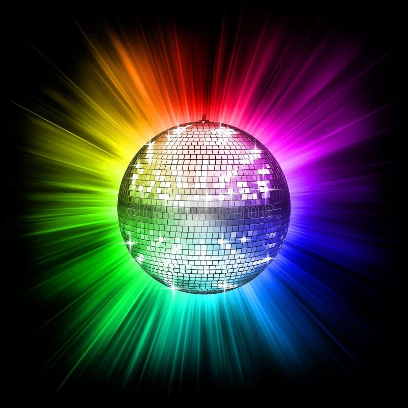 диско шарика цветастое иллюстрация вектора