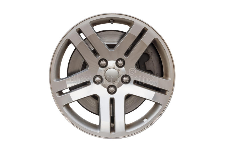 Диск автомобиля для колес изолированных на белой предпосылке стоковые фото