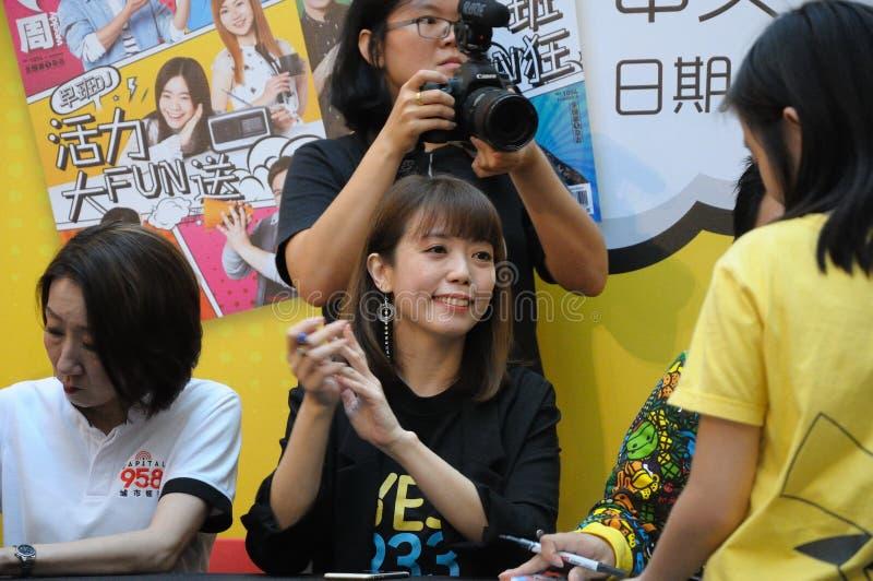 Диск-жокеи радиостанции Сингапура Mediacorp китайские стоковые фотографии rf