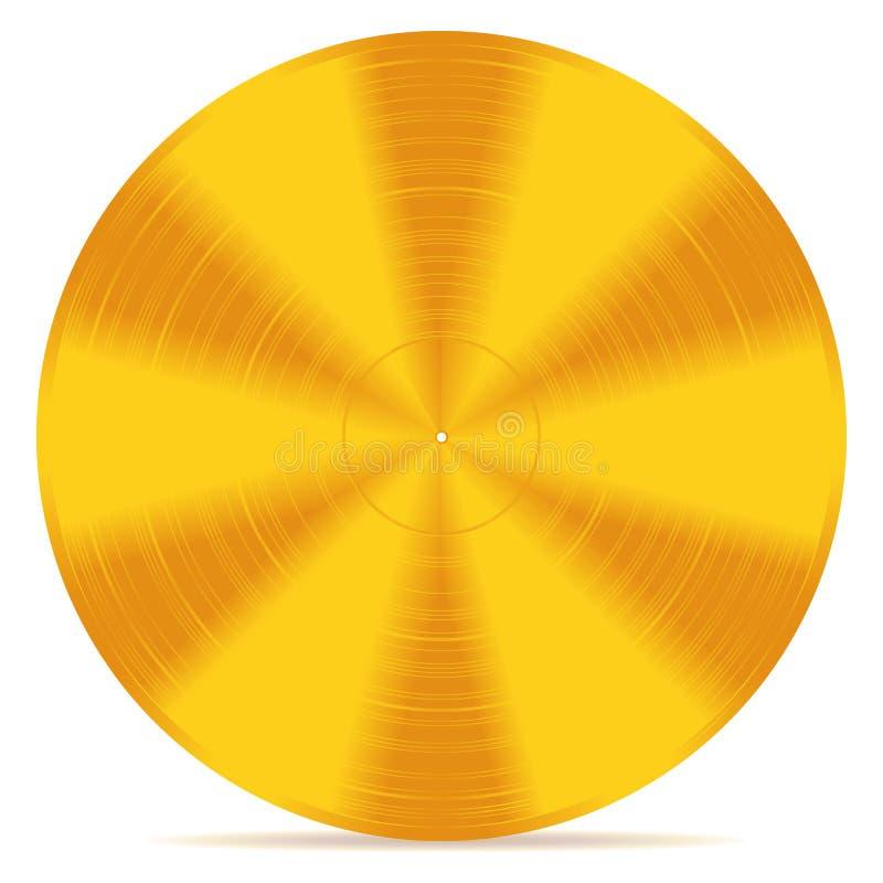 Диск золота иллюстрация вектора