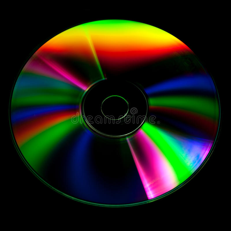 Диск КОМПАКТНОГО ДИСКА и DVD стоковое фото